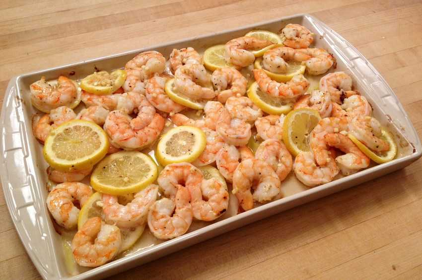 Oven Roasted Shrimp with Lemon and Garlic recipe