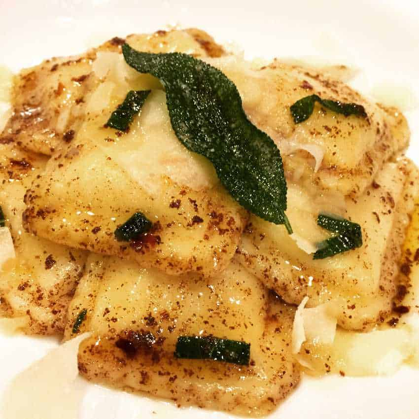 Four Cheese Ravioli in Brown Butter Sage Sauce