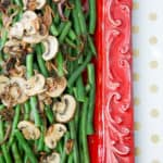 Fresh Green Beans with Mushrooms and Crispy Shallots