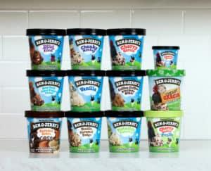Ben & Jerry's Gluten-Free Flavors list