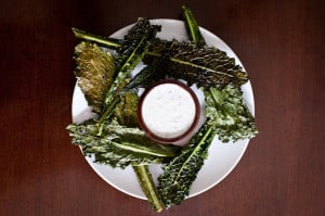 Crispy Kale with Tangy Homemade Ranch