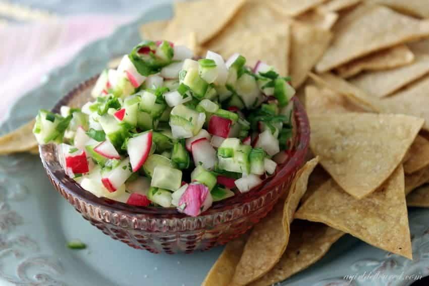 radish cucumber salsa recipe