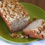 banana streusel loaves