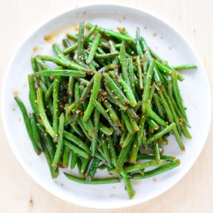 Asian style stir-fried green beans