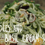 cashew cream sauce and zoodles recipe