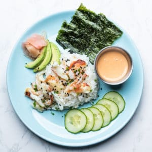 Dungeness crab California Roll Salad