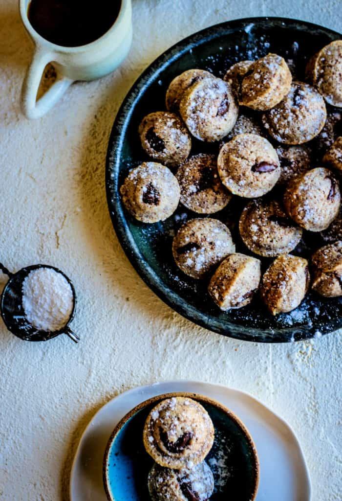 Hazelnut Financiers with Dark Chocolate