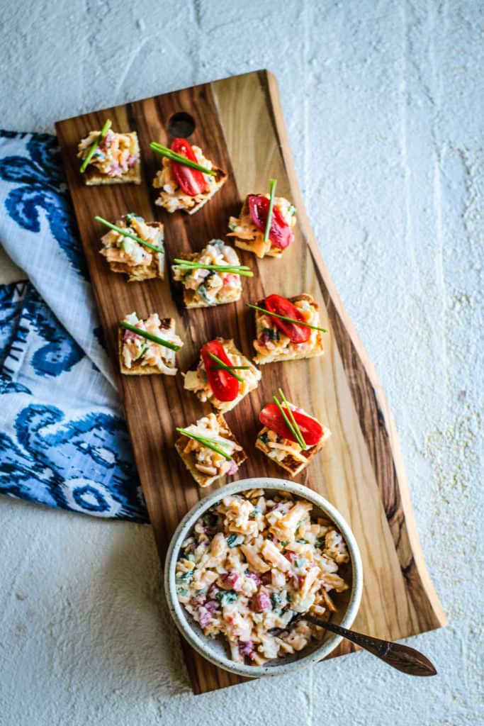 Gluten Free Pimento Cheese Appetizers
