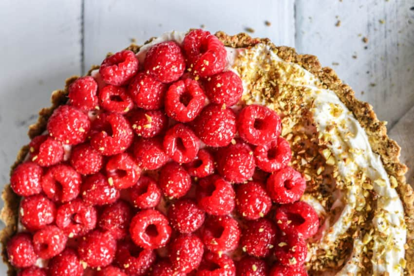Raspberry Mascarpone Tart with Pistachio Crust gluten-free recipe