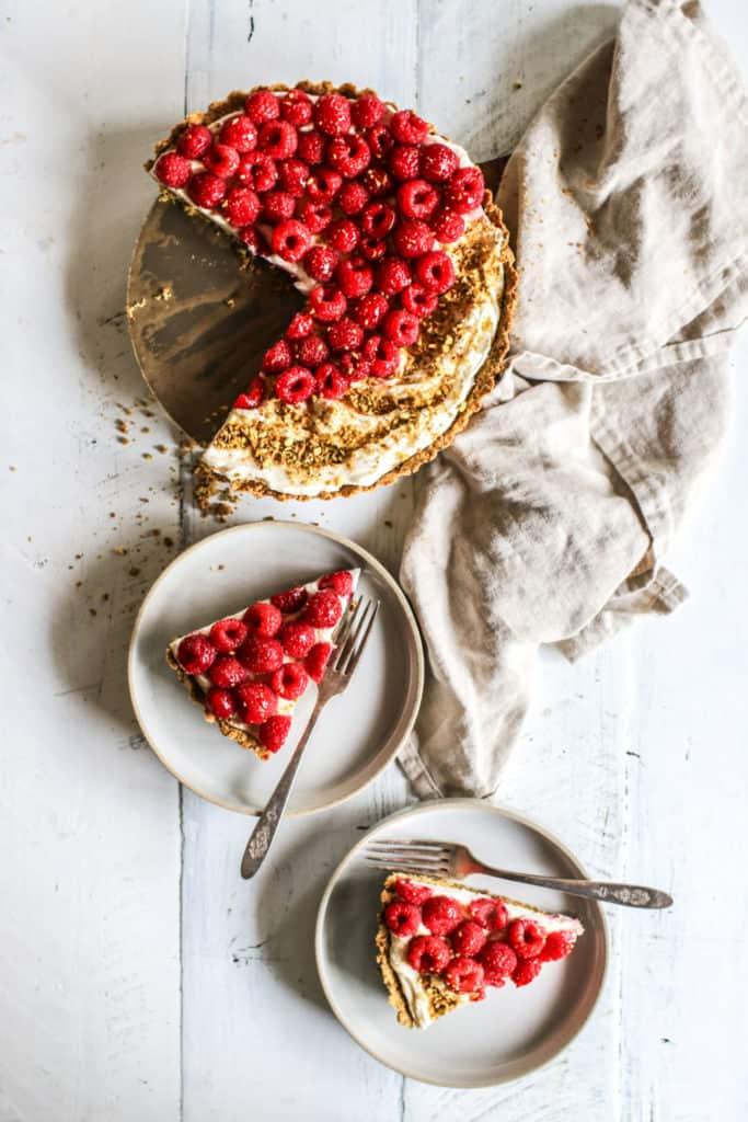 gluten free raspberry pistachio tart recipe