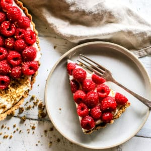 Raspberry Mascarpone Tart with Pistachio Crust