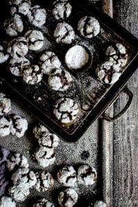 CHOCOLATE CRACKLE COOKIES