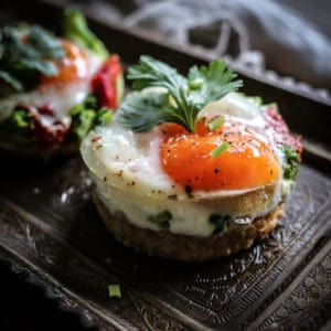 baked eggs on toast gluten free recipe