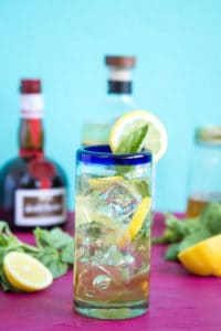 how to make a lemon basil margarita