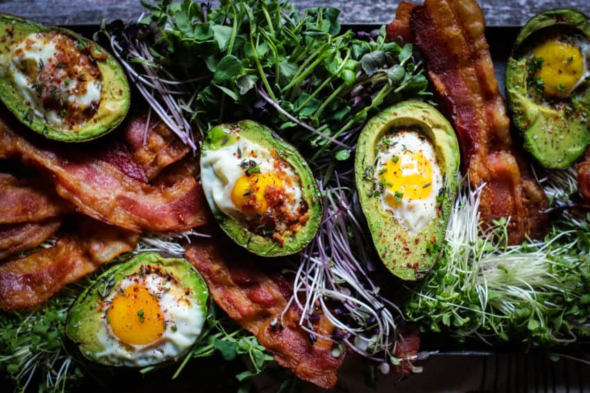 Avocado Baked Eggs Brunch Board
