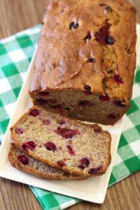 cranberry banana bread gluten free
