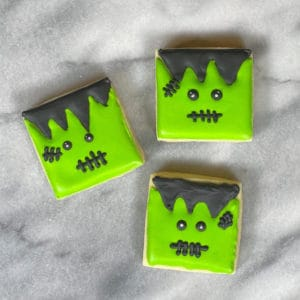 How to make Frankenstein sugar cookies