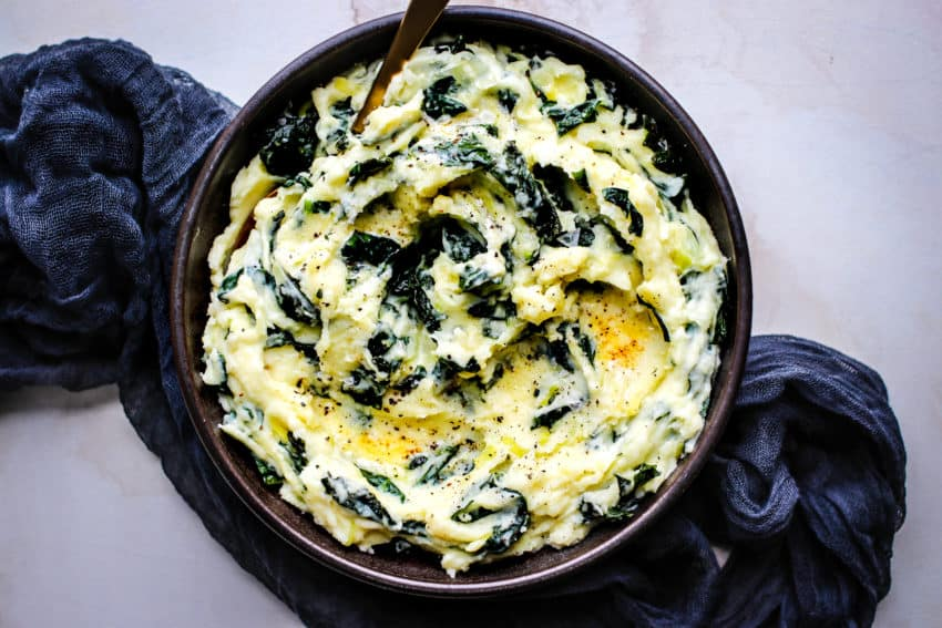 Mashed Potatoes with Kale Colcannon