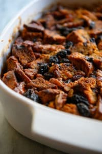 gluten-free Cinnamon Raisin Bread Pudding