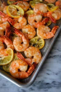 Roasted Shrimp with Lemon & Garlic