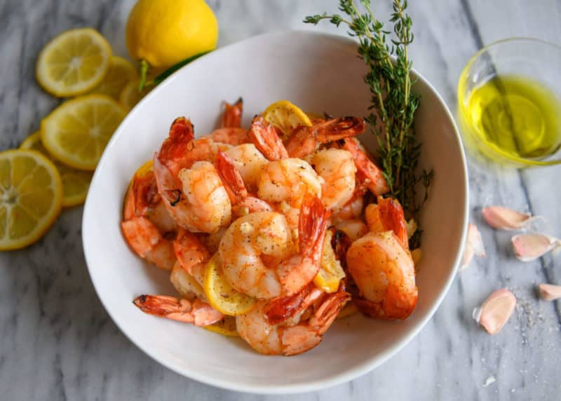 Oven Roasted Shrimp with Lemon & Garlic recipe