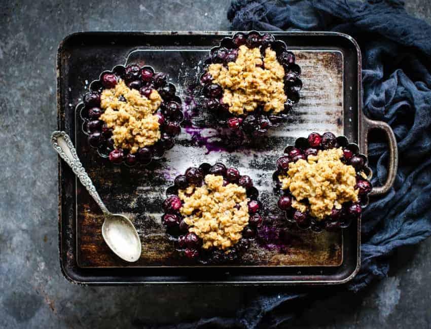 individual blueberry crisps recipe