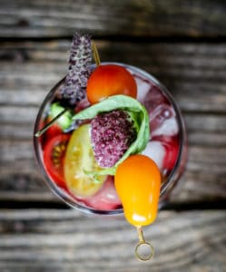 how to garnish a wine bloody mary