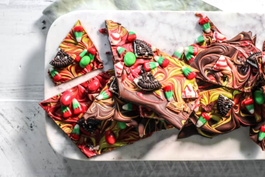easy Christmas chocolate bark recipe
