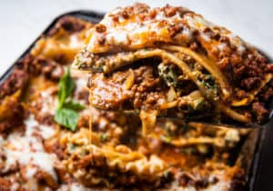 lasagna with traditional meat sauce