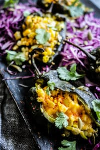 Corn Stuffed Poblano Peppers recipe
